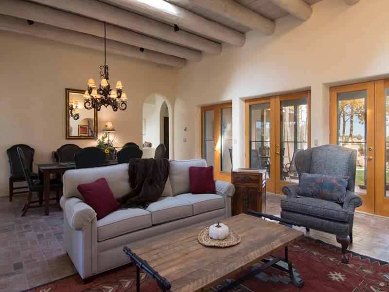 Santa Fe Vacation Rentals from Adobe Destinations | Aria Adobe Winter Views