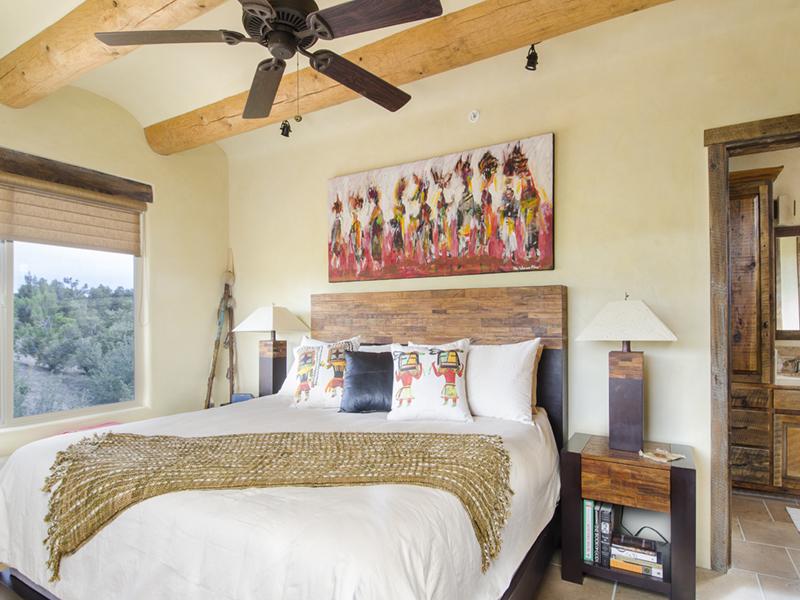 Master Bedroom | Opera Vista | Santa Fe Vacation Rentals from Adobe Destinations
