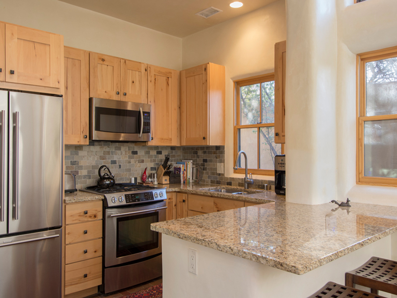 Downtown Santa Fe Vacation Rental | Sweet Juniper Kitchen | Vacation Rentals from Adobe Destinations